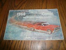 1966 Mercury Comet Registered Owner's Manual Owner Guide - - OEM