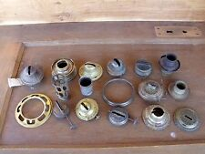 17pc VTG Brass Metal Burner Cap Cover Ring Tube Oil Kerosene Lamps Lantern Parts