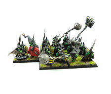 WARHAMMER FANTASY ARMY ORCS AND GOBLINS NIGHT GOBLINS   PAINTED AND BASED