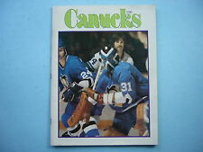 1976/77 VANCOUVER CANUCKS PITTSBURGH PENGUINS PROGRAM MICHELLE PLASSE D. BURROWS