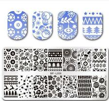BORN PRETTY Christmas Nail Art Stamp Plate Image Stencil Xmas Design BP-L056 DIY