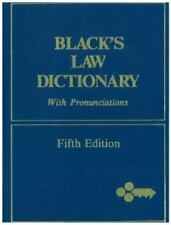 Black's Law Dictionary with Pronunciations 5th Fifth Edition Henry Campbell Vtg