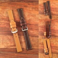 Premium 18mm Horween Chromexcel Leather Watch Strap Brown Or Tan