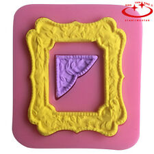 3D Photo Frame Silicone Fondant Mould Cake Decorating Candy Baking Mold Tool