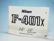 Nikon f-401x AF manuale di istruzioni instruction Manual - (100863)