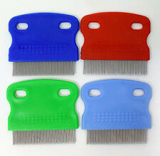 Hair Lice Nit Pets Flea Eggs Dirt Dust Remover Steel Tooth Comb Health Brushes