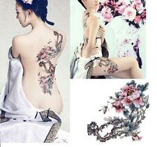 Large Removable Stickers Body Temporary Tattoos Waterproof-- Flower Tree