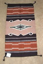 """Throw Rug Tapestry Southwest Western Hand Woven Wool 20x40"""" Replica #363"""