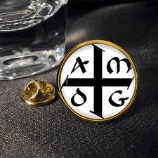 AMDG (ad majorem Dei gloriam) Jesuit Lapel Pin Badge Gift