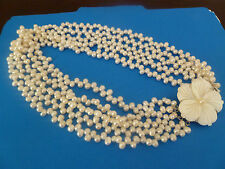 5 strend of fresh water pearl necklace