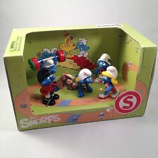 SCHLEICH 2012 - THE OLYMPIC SMURFS BOX SETS SCENERY PACK (5 figures) NEW IN BOX*