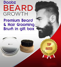 Beard Brush Round Boar Bristles for Hair and Beards with gift box by Daabz