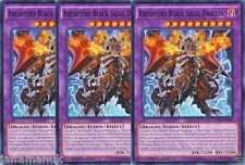 Playset 3 x Archfiend Black Skull Dragon - LDK2-ENJ42 - Common