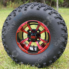 NEW! 10x7 Red Storm Trooper Golf Cart Wheels and All Terrain Tires!