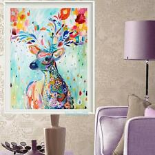 Deer 40*30cm Oil Painting Home Decor DIY Paint By Number Kit On Canvas Colorful