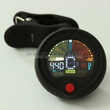 Clip-on Chromatic Tuner Metronome Battery For Electric Guitar Bass Banjo VIOLIN