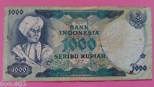 Indonesia Banknotes of 1000 Rupiah Year 1975 - RARE, V Good Circulated Note