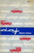 Daf 750 Daffodil Combi Delivery Van Pick-Up 1963-64 Original Owners Handbook
