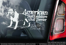 American Staffordshire Terrier - Car Window Sticker - Dog Sign -V08
