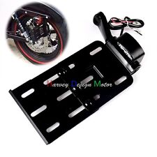 Collapsible LED Side Mount License Plate Bracket For Harley Sportster XL 04-UP