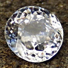NATURAL ZIRCON-SRI LANKA 2.465Ct FLAWLESS-COLORLESS-FOR JEWELRY-READ