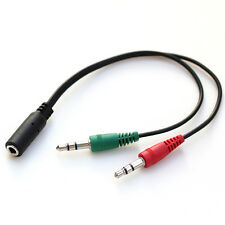 3.5mm Mic Speaker Cable to 4 Pin Female Stereo Splitter Audio Adapter Converter