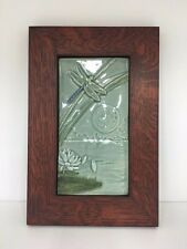 Medicine Bluff Dragonfly Moon Tile Arts & Crafts Mission Style Oak Park Frame