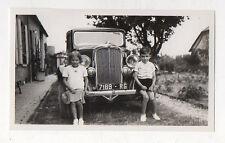 PHOTO N&B Snapshot Voiture Auto Automobile Renault Citroën Peugeot ? Vers 1930
