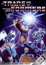 Transformers: More Than Meets The Eye! Season 3 & Four, New DVDs