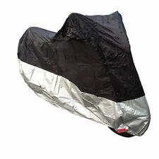 MOTORCYCLE MOTORBIKE SCOOTER CHEAP BUDGET WATERPROOF BIKE COVER MEDIUM