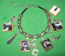 """50 SHADES OF GRAY""-   BEADED SLIDER CHARM BRACELET"