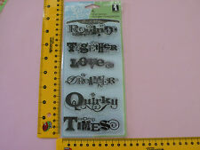 CLEAR CLING STAMP SET INKADINKADO ROMANCE TOGETHER LOVE QUIRKY