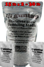 """30 Pounds Stainless Steel Tumbling Media Pins 30lb .047"""" x .255"""" Made in USA"""