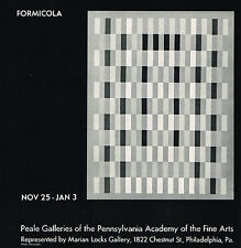 1970 Vintage Formicola Art Peale Galleries Exhibition Print AD