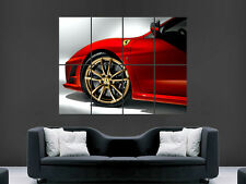 FERRARI 430 SCUDERIA RED  SUPERCAR IMAGE HUGE  LARGE PICTURE POSTER GIANT