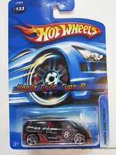 HOT WHEELS 2006 HONDA CIVIC TYPE R BLACK  #133