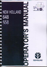 New Holland 648 and 658 Round Baler Operator Manual Book
