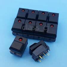 10Pcs PB86 Black Momentary Push Button Tact Switch SPDT 6Pin DIP PCB Mount