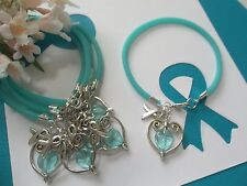 OVARIAN CANCER AWARENESS  'SUPPORT WITH LOVE' BRACELETS - 6 COUNT