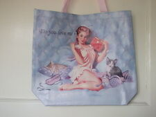 Ragazza con gatti / gattini SHOPPING BAG