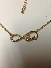 Sex And The City LOVE inspired Infinity Necklace In GOLD