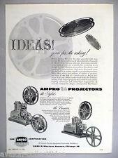 Ampro 16mm Sound Film Projectors PRINT AD - 1953