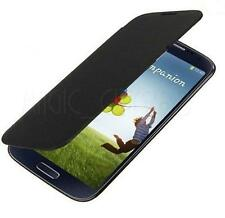 Black PU LEATHER FLIP BATTERY BACK CASE COVER FOR SAMSUNG GALAXY S4 SIV I9500