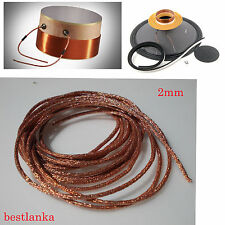 100cm WOOL MIX SPEAKER RECOAN VOICE COIL WICKER TINSEL COPPER WIRE SUB WOOFER