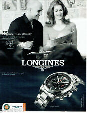 PUBLICITE ADVERTISING  016  2009  Longines Admiral montre Roland Garros A AgassI