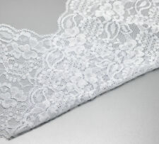 "5Yards Craft White Stretch Lace Edge Trim 5-7/8"" wide"