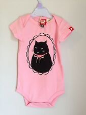 Rock Your Baby Cameo Cat Romper Babygrow 6-12 Months Size Pink Girls