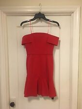 Nicholas N Off Shoulder Mini Dress In Red Size 2 NEW with tags