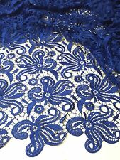 "ROYAL FLOWER GUIPURE FRENCH VENICE BRIDAL LACE FABRIC 52"" WIDE 2 YARD"