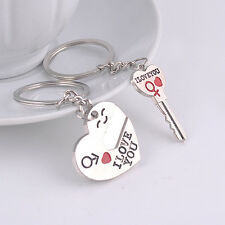 """I Love You"" Heart+Arrow + Key Couple Key Chain Ring Keyring Keyfob Best Gift"